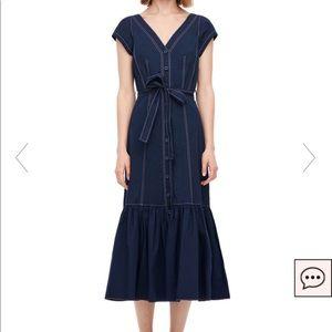 Rebecca Taylor Poplin Midi Dress